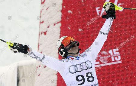 Stock Photo of Prince Hubertus Von Hohenlohe of Mexico After His Run in the Final Leg of the Men's Slalom at the Alpine Skiing World Championships in Beaver Creek Colorado Usa 15 February 2015 United States Beaver Creek