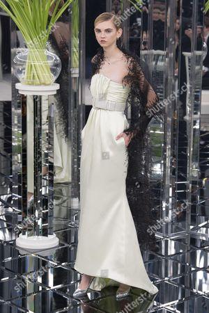 Molly Bair on the catwalk