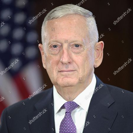 Stock Image of James Mattis, appointed as US Secretary of Defense.