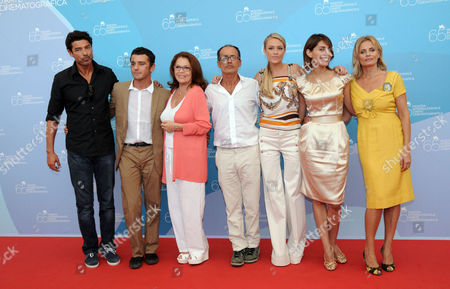 Alessandro Gassman, Michele Venitucci, Valeria Fabrizi, the director Pappi Corsicato, Martina Stella, Caterina Murino, Isabella Ferrari
