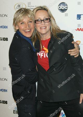 Ellen DeGeneres and Laura Ziskin