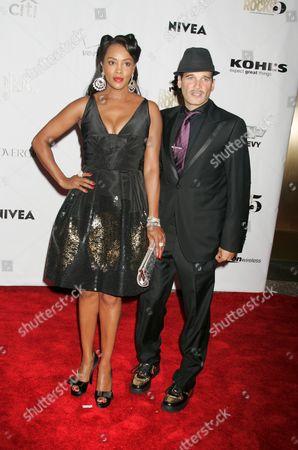 Vivica A. Fox and stylist Philip Block