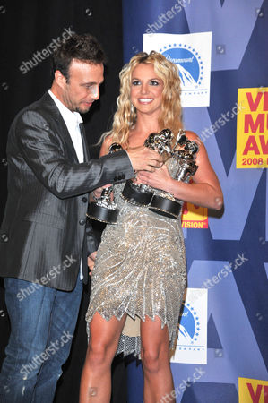 Stock Picture of Britney Spears and manager Larry Rudolph