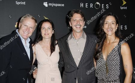 Dennis Hammer, Katherine Pope President of NBC Media Studios, Tim Kring and wife Lisa
