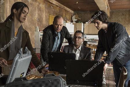 Stock Photo of Michael Keaton, Shiva Negar, Dylan O'Brien