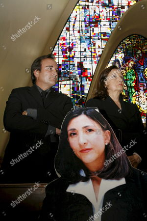 Juan Carlos Lecompte (l) and Yolanda Pulecio Husband and Mother of Colombian Former Presidential Candidate Ingrid Betancourt Participate in a Mass in Bogota Colombia 23 February 2008 Held to Mark the 6th Anniversary of Betancourt Captivity by the Revolutionary Armed Forces of Colombia (farc) Betancourt who Also Holds French Citizenship was Kidnapped 23 February 2002 on a Highway Going to Caguan Province of Caqueta Colombia That was Blocked by Rebels of the Main Colombian Guerrilla Colombia Bogota