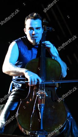Finnish Rock Singer Paavo Lotjonen From the Rock Band Apocalyptica Perfoms in Front of 45 000-person Audience in Mexico City During a Concert on Friday Night 7 November 2003 Mexico Mexico City