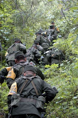 Mexican Army Search in a Zone of the Forest Salazar in the Mexican State of Toluca For the Missing Helicopter where Traveled the Chief of the Secretary of Federal Public Security (ssp) and Collaborator of the President Vicente Fox Ramon Martin Huerta That Fell on Wednesday 21 September 2005 Eight People Died in the Accident Mexico Salazar