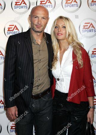Franck Leboeuf and wife Stephanie