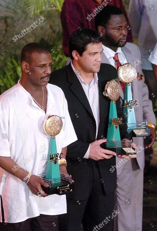 (from Left to Right) Former Boxers Michael Spinks Joe Messi and James Toney Pose For Photographers During the 'Champions Night' Ceremony Organized by the World Boxing Council Late Tuesday 31 January 2006 at the Xcaret Park in Mexico Mexico Xcaret