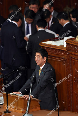 Editorial image of Plenary session at the National Diet, Tokyo, Japan - 23 Jan 2017