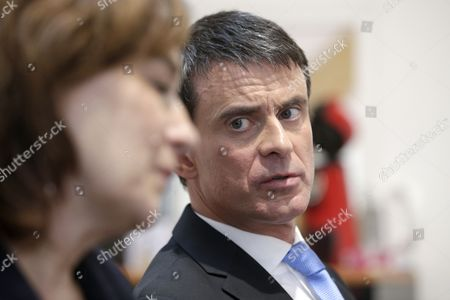 Manuel Valls and Laurence Rossignol