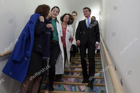 Manuel Valls, Ghada Hatem-Gantzer and Laurence Rossignol