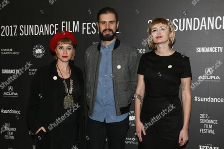 Stock Picture of Jess Wolfe, Dan Molad, Holly Laessig
