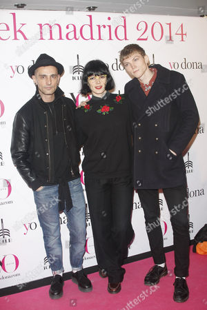 Spanish designer David Delfin, spanish Model Bimba Bose and Charlie Centa
