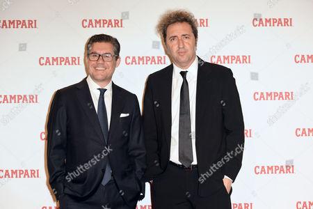 Bob Kunze-Concewitz, CEO of Campari, and Paolo Sorrentino