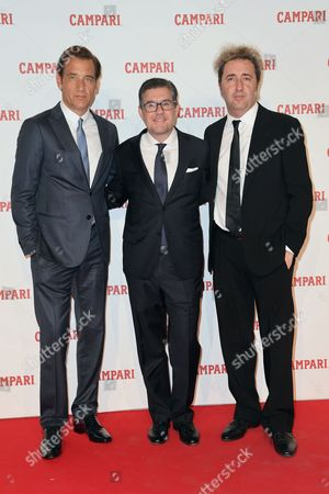 Clive Owen, Bob Kunze-Concewitz and Paolo Sorrentino
