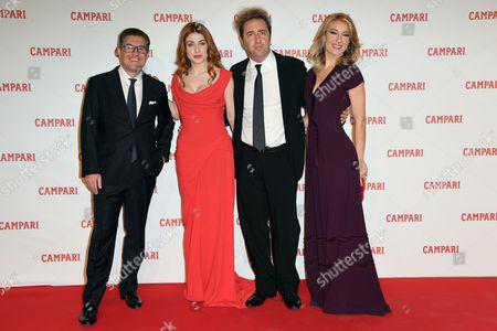 Bob Kunze-Concewitz CEO of Campari, Caroline Tillette, Paolo Sorrentino, Mia Ceran