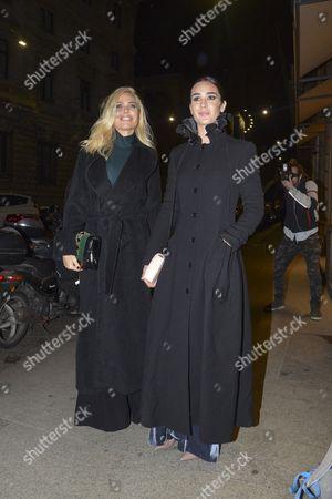 Stock Image of Ilary Blasi and Silvia Toffanin