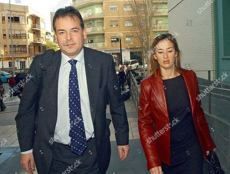 Leicester City Executive Director Tim Davis (l) and Lawyer Ana Ruiperez Arrive to the Cartagena Court Thursday 11 March 2004 to Declare on the Case of the 3 Players of the Club Allegedly Involved in a Case of Sexuasl Assault the Players Frank Sinclair Paul Dickov and Keith Gillespie Are Being Held Over Serious Sex Assault Allegations Accused of Attacking Three African Women at Their Hotel in the Resort of La Manga Spain Murcia