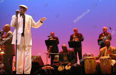 Cuban Singer Ibrahim Ferrer Performs in Mexico City on Sunday 9 November 2003 Singing the Most Popular Songs of the Buena Vista Social Club Such As 'Candela' and 'Como Fue' Mexico Mexico City
