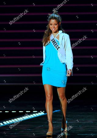 Miss Greece Doukissa Nomikou During the Rehearsal For the Miss Universe Pageant in Mexico City 26 May 2007 the Miss Universe Finals Will Be Held 28 in Mexico City Mexico Mexico City
