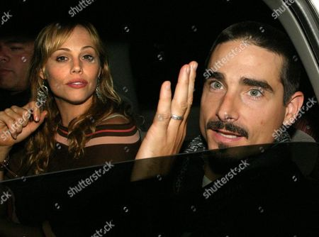 Backstreet Boys Pop Group Member Kevin Richardson (r) and His Wife Kristin Richardson (l) Leave the Restaurant in Mexico City Mexico Late Thursday 14 October 2004 the Backstreet Boys Will Be Performing on Friday 15 and Saturday 16 in the Sports Palace Mexico City Mexico Mexico