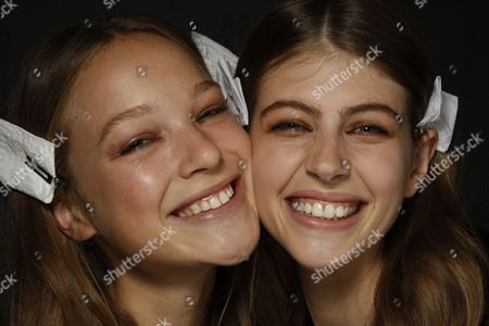 Stock Picture of Heloise Guerin and Jennifer Messelier backstage