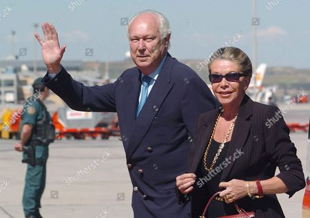 Prince Victor Manuel of Saboya (l) and His Wife Marina Doria Arrive at Barajas Airport in Madrid Thursday 20 May 2004 to Attend the Royal Wedding of Spanish Prince Crown Felipe and His Fiancee Letizia Ortiz Next Saturday 22 May Spain Barajas