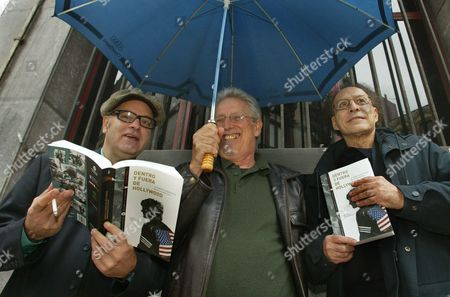 Us Film Directors of an Independent Bent Amos Poe (l) Monte Hellman (r) and Jim Mcbride (c) Hold a Press Conference on Sunday 28 November 2004 to Present the Spanish Edition of Their Joint Book 'Hollywood Inside Out' at the 42nd International Cinema Festival in a Rainy Gij?n in Northern Spain Spain Gijon