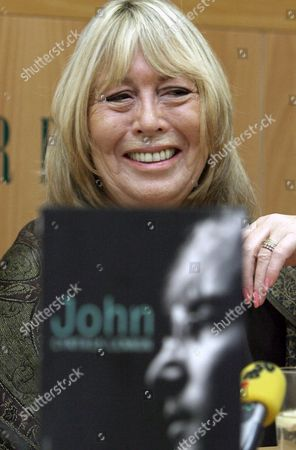 British Singer John Lennon's First Wife Cynthia Lennon Smiles As She Addresses a Press Conference to Presents Her Book 'John' a Biography of John Lennon on Tuesday 17 October 2006 in Barcelona Northeastern Spain Spain Barcelona