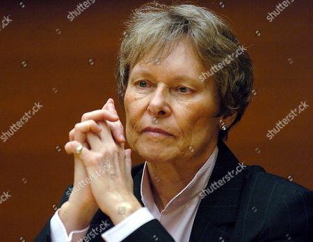 Canadian Astronaut Roberta Bondar First Canadian Woman Travelling to Space Delivers a Speech During the Opening of the 2005 Donostia Lanean Employment Congress on Tuesday 15 November 2005 in San Sebastian Basque Country Northern Spain Congress Runs Until Wednesday at Kursaal Auditorium in San Sebastian Spain San Sebastißn