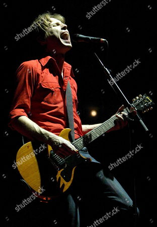 Stock Picture of Guitarist and Franz Ferdinand Band Leader Alexander Kapranos During His Performance on Stage on Their European Tour where They Present Their Last Album 'You Could Have It So Much Better' at Badalona Olympic Stadium in Barcelona Wednesday 21 December 2006 Spain Barcelona