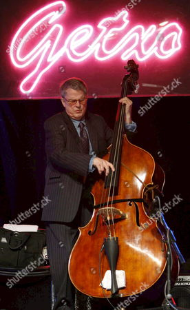 Stock Picture of Us Musician Charlie Haden Plays Double Bass During His Performance at Getxo?s Jazz International Festival in Vizcaya Nothern Spain Late Friday 6 July 2007 Spain Getxo