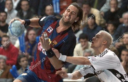 Editorial photo of Spain Handball Champions League - Mar 2005