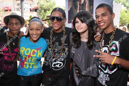 Chani Christie, Lil' JJ and Selena Gomez