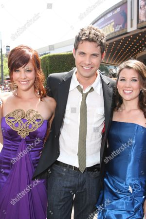 Stock Picture of Amy Paffrath, Drew Seeley and sister Katie Seeley