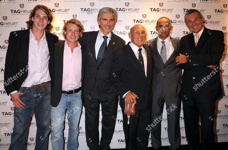 Freddie and Tom Hunt, Damon Hill, Stirling Moss, Lewis Hamilton and Jean-Christophe Babin