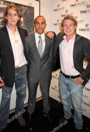 Lewis Hamilton with Freddie and Tom Hunt