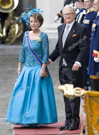 Stock Picture of Princess Margriet and Pieter Van Vollenhoven Sohngen