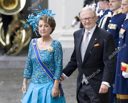 Stock Image of Princess Margriet and Pieter Van Vollenhoven Sohngen