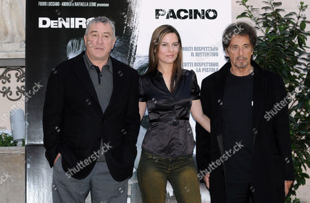 Robert De Niro, Producer Lati Grobman and Al Pacino