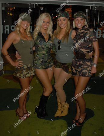 Stock Image of Page 3 girls: Kayleigh Pearson, Malene Espensen, Natalie Pike and Rachel Tennant