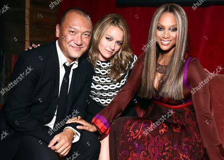 Joe Zee, Becky Newton, and Tyra Banks