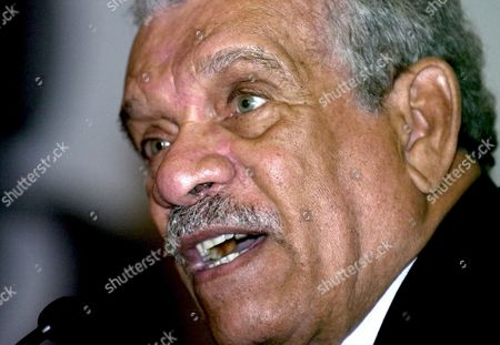 West-indian Poet Playwright and 1992 Nobel Literature Prize Laureate Derek Walcott Participates in a Conference on Regional Writers and Literature in Caracas on 10 May 2007 Venezuela Caracas