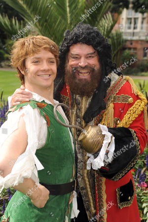 Brian Blessed as Captain Hook and Steven Butler as Peter Pan