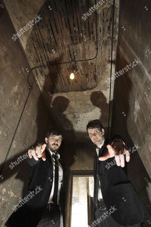 Stock Photo of Magicians, Stuart MacLeod and Barry Jones, whose show 'Barry   Stuart' is at the Edinburgh Festival.