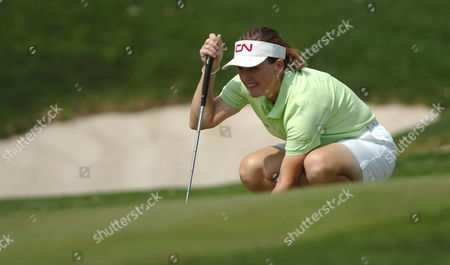 Canadian Golfer Lorie Kane in Action During the Mexican Open Saturday 11 March 2006 at the Bosque Real Country Club in Huixquilucan Mexico Mexico Huixquilucan