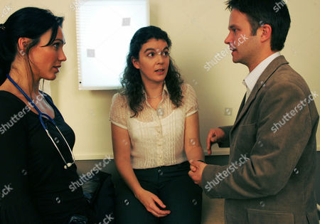 'The Royal Today'   TV Pictured: Dr Sarah Chatwin (Kirsty Mitchell), Bethan Mitchell (Alice James) and Paul Mitchell (Nick Underwood)