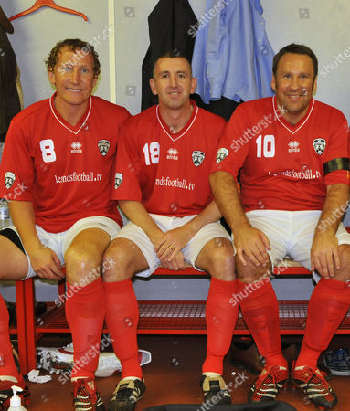 The Legends - England -V- Republic of Ireland - TV - 2008 - [L-R]: Ray Parlour, Nigel Winterburn and Paul Merson.